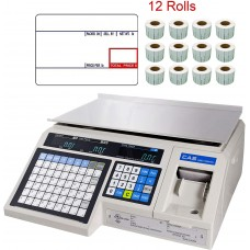 CAS LP-1000N Label Printing Scale Legal for Trade , 30 x 0.01 lb